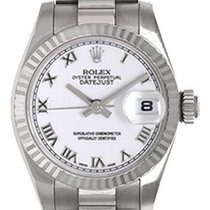 Rolex Ladies Rolex President 18k White Gold Watch 179179