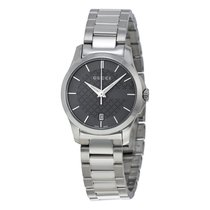 Gucci G-Timeless Grey Dial Stainless Steel Ladies Watch YA126522