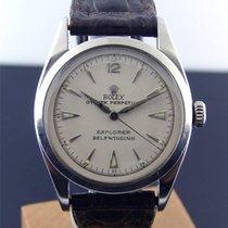 Rolex Pre Explorer Brevet Vintage 6298 Stainless Steel Brown...
