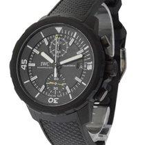 IWC IW379502 Aquatimer Chronograph in Black Steel - On Black...