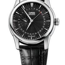Oris Artelier Pointer Date Black Leather Bracelet