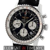 Breitling Navitimer Stainless Steel Chronograph Black Dial...