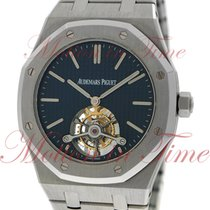 Audemars Piguet Royal Oak Tourbillon Extra-Thin, Blue Dial -...