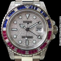 Rolex 116759saru Gmt II 18k White Gold  Sapphire Rubies...