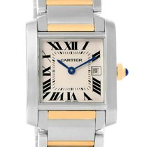 Cartier Tank Francaise Midsize Steel 18k Gold Ladies Watch...