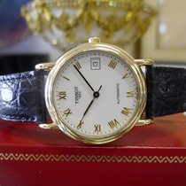 Tissot 1853 Automatic 18k Yellow Gold Dress Watch On Leather...