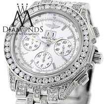 Breitling Mens Breitling Watch A44355 White Dial15ct Natural...
