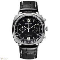 Panerai Contemporary Radiomir Chronograph Steel Black Leather...