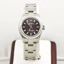 Rolex Oyster Perpetual Lady 176200 Purple Face Box &...