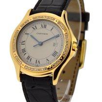 Cartier Santos 33mm Yellow Gold with Diamond Bezel