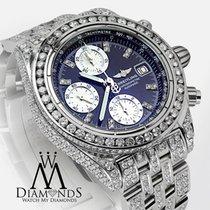 Breitling Galactic Chronograph Ii 44mm Custom Diamonds Watch...