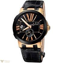 Ulysse Nardin Executive Dual Time Black 18k Rose Gold Ceramic...