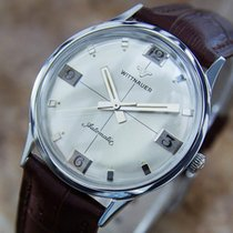 Wittnauer Mens Swiss Made Automatic Stainless Steel 1960s...
