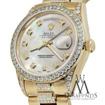 Rolex Yellow Gold Presidential Day Date White Dial Diamond...