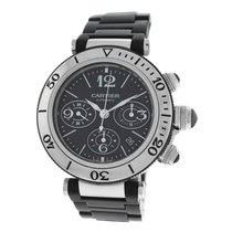 Cartier Pasha Seatimer 2995 Steel Rubber 42mm Chronograph...