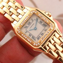 Cartier Panthere 18k Yellow Gold Diamond Ladies Watch ref....