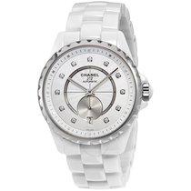 Chanel J12-365 White Opaline Diamond Dial Ceramic Ladies Watch