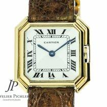 Cartier Paris Octagonal Ceinture  Vintage 18kt Gelbgold 32x31mm