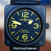 Bell & Ross BR01-92 Aviation Base LTD PVD & Yellow 46mm