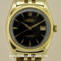 Rolex Ovetone black gilt dial