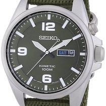 Seiko KINETIC SMY141P1 MILITARY GREEN - NYLON