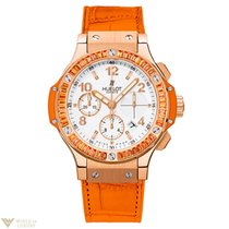 Hublot Big Bang Tutti Frutti Orange Sapphire 18K Rose Gold...