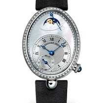Breguet Reine de Naples Automatic Mini 18K White Gold Diamonds...