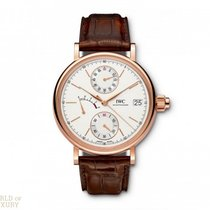 IWC Portofino Hand-Wound Monopusher Red Gold Men's Watch