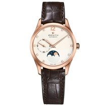 Zenith Captain Ultra Thin Moonphase Opaline Dial 18kt Rose...