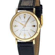 Eterna -Matic Centenaire 14K Gold Watch - Beige Dial - Leather