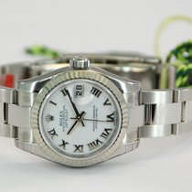 Rolex Ladies DateJust Stainless Steel White Roman Dial-179174