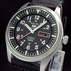 Seiko SNZG15 Sport 5 Military Pilot 7S36 Army Watch