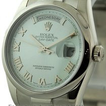 Rolex Day-Date Platinum President Ice Blue Roman Dial Ref. 118206