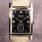 Gruen Curvex Precision Original Vintage Solid White Gold Watch...
