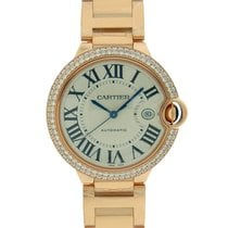 Cartier Ballon Bleu Large 2 Row Diamond Bezel