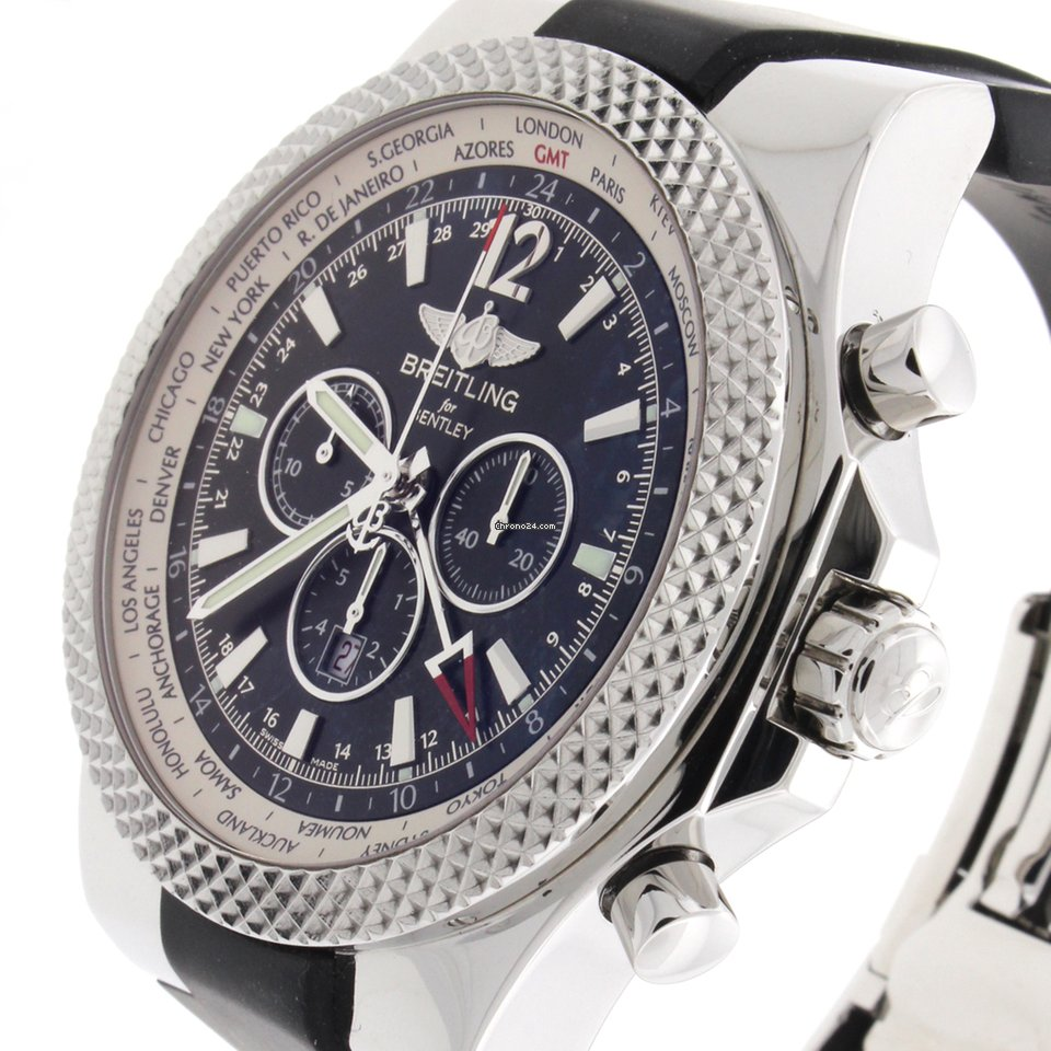 Find New Breitling For Bentley Watches On Chrono24 Price Case - Breitling bentley motors gmt v8 special edition chrono steel for 6 200 for sale from a trusted seller on chrono24