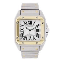 Cartier Santos 100 Large Steel & 18K Yellow Gold Watch