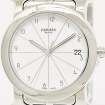 Hermès Polished Hermes H Watch Rond Steel Quartz Unisex Watch...
