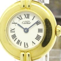 Cartier Polished Cartier Must Vermeil Gold Plated Leather...