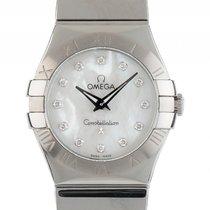Omega Constellation Stahl Diamond Perlmutt Quarz Armband Stahl...