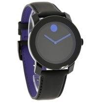 Movado Bold Series Purple & Black Leather Swiss Quartz...