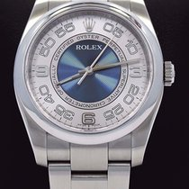 Rolex Oyster Perpetual 116000 New Style Blue Silver Dial 36mm...