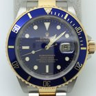 Rolex 16613 Gold Steel Submariner Black Dial and Bezel with...