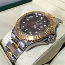 Rolex Oyster Yacht-Master Gold Steel Black Pearl Dial 40 mm...