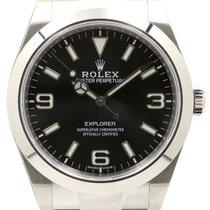 Rolex Explorer 214270 39mm Black Arabic Index Stainless Steel...