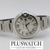 Cartier Ballon Bleu De Cartier Steel Bracelet Silver Dial 33mm M