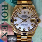 Rolex 31mm Datejust President 18k Yellow Gold MOP Diamond...
