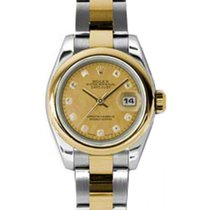 Rolex Lady-Datejust 26 179163-CGDMOPDO Champagne Goldust...
