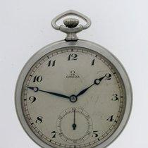 Omega Original Omega ART DECO Steel Pocket Watch Swiss 1930