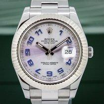 Rolex 116334 Datejust II Silver Dial Blue Arabic SS (25793)